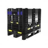 Foldable plastic pallet box 1200 x 800