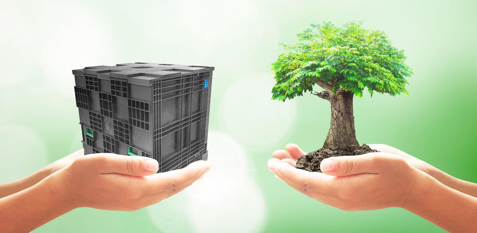 Nachhaltiger Transportbehälter aus Kunststoff EnginePak