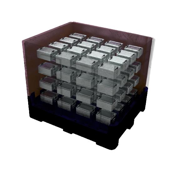 IonPak 2.0 Rücktransport von Lithium Ionen Batterien mit Mehrweg Verpackungen aus Kunststoff