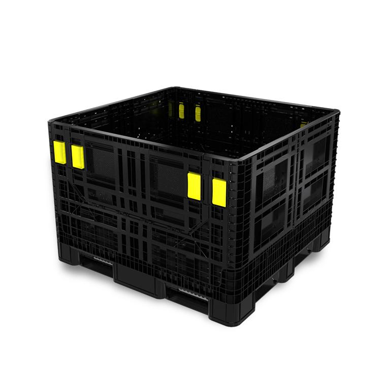 Grands conteneurs pliables en plastique pour le transport maritime