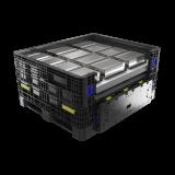 ORBIS IonPak, Gefahrgutbehälter aus Kunststoff für den Transport von Lithium-Ionen-Batterien und festes Gefahrgut
