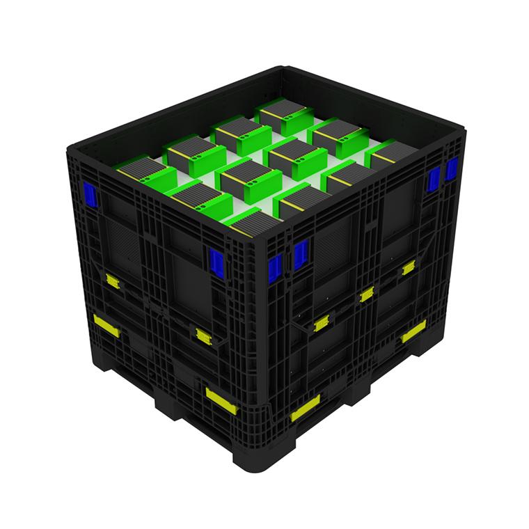IonPak - Sicherer, effizienter und nachhaltiger Transport von Lithium Batterien mit dem Mehrweg Großladungsträger aus Kunststoff