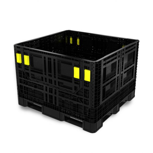 Grand conteneur pliable en plastique pour le transport maritime